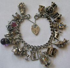 "vintage Nuvo ""circus"" themed charm bracelet...LOVE theme bracelets!"
