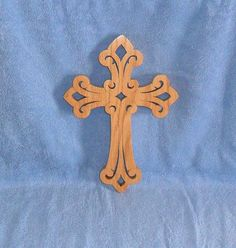 Wooden Wall Scroll Saw Cross C35