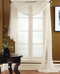 "Miller Curtains Sheer Preston Rod Pocket 48"" x 216"" Scarf Valance - Window Treatments - For The Home - Macy's"