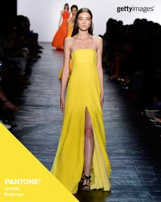 Buttercup seen in the Prabal Gurung show: via @gettyimages #Pantone #FashionColorReport #SS16 #NYFW