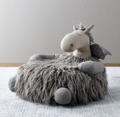 RH Baby & Child's Wooly Plush Dragon Chair:With its playful embroidered accents and lots of fun, different textures, the softest seat in the house is also the friendliest. Baby Boy Room Decor, Baby Room Design, Childrens Room Decor, Baby Boy Rooms, Kids Room Furniture, Home Decor Furniture, Dollhouse Furniture, Cool Furniture, Dragon Nursery