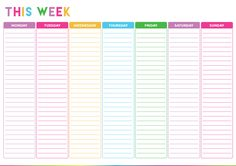 Cute Daily Planner Template Best Of Colorful Printable Daily Checklist for Keeping Up with Stuff Free Printable Weekly Calendar, To Do Lists Printable, Weekly Planner Template, Templates Printable Free, Printable Planner, Free Printables, Checklist Template, Daily Schedule Printable, Cleaning Schedule Templates