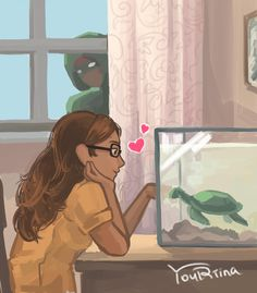 Carapace watching Alya by the window of her house with her pet turtle from Miraculous Ladybug and Cat Noir Ladybug E Catnoir, Ladybug And Cat Noir, Ladybug Comics, Lady Bug, Mlb, Adrien Y Marinette, Miraculous Ladybug Fan Art, Super Cat, Fanart