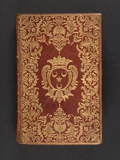 [Photographs of a binding of] Almanach royal, année M.DCC.LVIII, 1757. Bookbinding and Book Collecting. Rare Books in the Thomas J. Watson Library. The Metropolitan Museum of Art, New York. Thomas J. Watson Library (b16808940) | With the arms of Camus de Pontcarre. #books #bindings