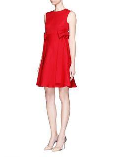 VALENTINOLong bow silk gazar A-line dress