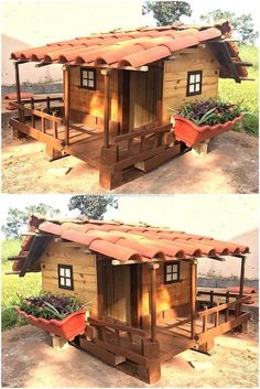 Exceptional Creative Ideas For Wood Pallet Playhouses