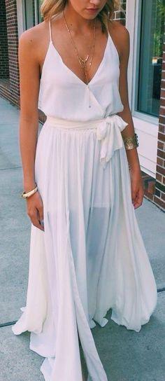 summer whites. maxi flowy skirt. dress.