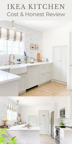 Ikea Kitchen Reviews, Kitchen Cost, Kitchen Cabinets Reviews, Installing Kitchen Cabinets, Ikea Kitchen Design, Ikea Kitchen Cabinets, Ikea Small Kitchen, Small House Kitchen Ideas, Island Kitchen