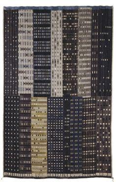 'Manhattan' (1953) by Swedish artist and textile designer Ingrid Dessau (1923-2000). via text-mode