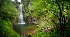Desde hoy solazo en Asturias! La cascada del Cioyo en #Castropol