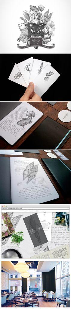 Branding+Elegant illustrations. Design never tasted so good. identity / madam sixty ate - restaurant