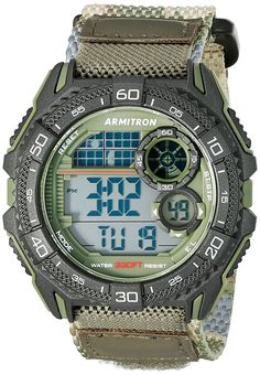 Armitron Sport Men's 40/8329COG Digital Chronograph Green Camouflage Nylon Strap Watch ** Find out more about the great product at the image link. (This is an Amazon Affiliate link and I receive a commission for the sales)