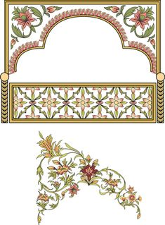 Islamic Art Pattern, Pattern Art, Floral Print Background, Floral Prints, Flower Frame, Flower Art, Pakistan Art, Flowery Wallpaper, Paisley Art