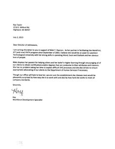 how to write a conjugal partner recommendation letter