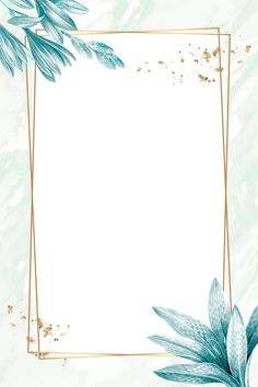 Golden rectangle with floral frame vector Flower Background Wallpaper, Framed Wallpaper, Frame Background, Flower Backgrounds, Watercolor Background, Background Patterns, Wallpaper Backgrounds, Flower Graphic Design, Molduras Vintage