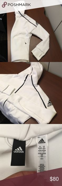 ADIDAS ZNE Hoody 2 layer hood construction, front zipper pockets. Athletic fit. 62% cotton 32% polyester 6% doubleknit. Brand new never worn. adidas Jackets & Coats