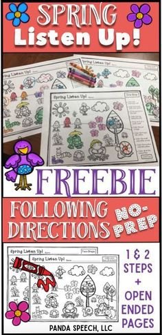 Free following directions activity!