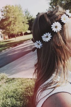 daisy flower crown <3