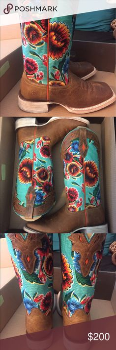 Women's Ariat Boots Size 8 worn once so in excellent excellent condition Ariat Shoes Heeled Boots #cowgirlboots