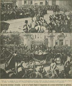 4 augustus 1914: de koning trekt naar het Parlement. by mathildepaukens, via Flickr
