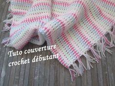 TUTO COUVERTURE PLAID BEBE AU CROCHET Mermaid blanket crochet MANTA A CU...