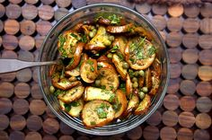 marinated eggplant with capers and mint