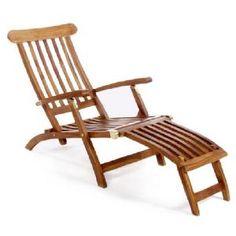 Teak 5 Position Steamer Chair Image