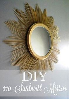 DIY Starburst Mirror   Dollar Store Crafts For The Homestead