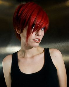 short red hair... perfect color.