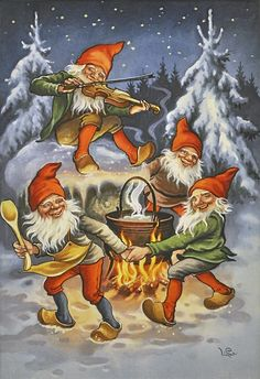 Lars Carlsson plays the fiddle outside by the fire
