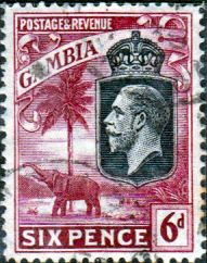 Gambia 1922 King George V Elephant SG SG 131 Fine Used SG 131 Scott 110 Other British Empire Stamps Here
