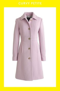 Crew for the Italian double-cloth wool lady day coat with Thinsulate® for Women. Find the best selection of Women Outerwear available in-stores and online. Mode Mantel, Purple Coat, Mein Style, Mode Hijab, Coat Dress, Ladies Day, Dress For You, Coats For Women, Winter Outfits
