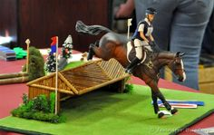 Breyer sized model horse jump for cross country horse riding
