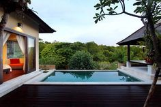 Hillside Villa Ungasan Bali Pool with hillside view and Indian Ocean view