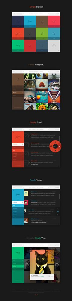 Simple Browser (Concept) by Tom Brennessl on Inspirationde Mobile Web Design, Web Ui Design, Layout Design, Flat Design, Ui Kit, Creative Web Design, Branding, Website Design Inspiration, User Interface Design