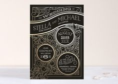 art-deco inspired invitation from Minted