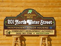Sign designed for Johnson Arms