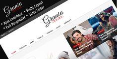 Grania - Multilayout Blog & Magazine Theme