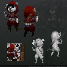 Husky Archer by tores #3d #lowpoly