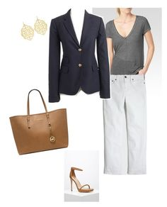 """Untitled #214"" by smag on Polyvore featuring Paige Denim, J.Crew, Forever 21, Susan Shaw and Michael Kors"