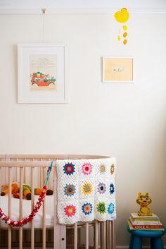 A wee vintage modern nursery room tour via WeeBirdy.com