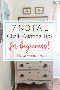 7 Chalk Painting Tips for Beginners + Supplies You Must Have! These 7 no fail chalk painting tips for beginners prove that anyone can learn to paint and are guaranteed to get you hooked on the latest craze and fun way to paint and home decor accessories! Chalk Paint Projects, Chalk Paint Furniture, Cool Furniture, How To Distress Furniture, Furniture Online, Discount Furniture, Modern Furniture, Office Furniture, Chalk Paint Dresser
