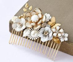 Bridal Hair Comb Vintage Style Wedding Hair Comb by lonkoosh on ...