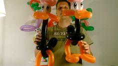 70  Ballon große Ente, balloon big duck, Modellierballon Ballonfiguren Animals Tiere