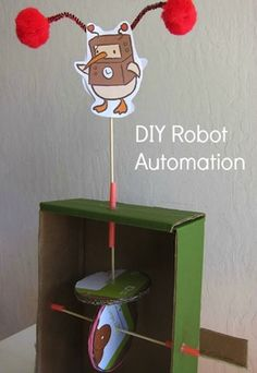My 6-year-old has always been fascinated by how things work, so I knew I had to try out this cardboard automaton with him. I love that it's a fun way for him to play with simple machines; and it also creates a really cool art piece...