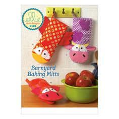 Oven Mitts, pot holders, barnyard friends