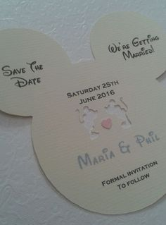 Disney inspired save the date card invitations x 30