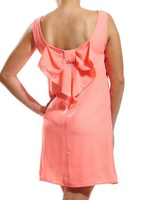 Another great find on #zulily! Pink Bow-Back Sleeveless Dress #zulilyfinds                    26.99