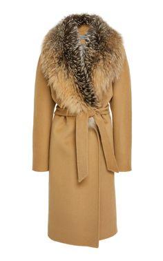 The Georgina Wool Wrap Coat by POLOGEORGIS for Preorder on Moda Operandi
