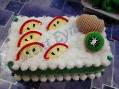 Kiwi...tissue box cover crochet